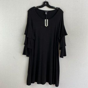 CHELSEA & THEODORE TIERED SLEEVE DRESS NWT